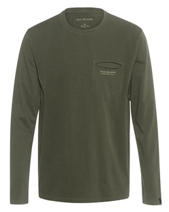 TRUE RELIGION Chest Pocket Washed Out Olive