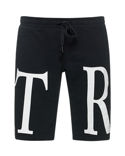 TRUE RELIGION Logo Letter Jogger Black