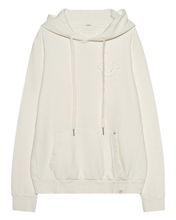 TRUE RELIGION Fleece Horsehoe Off White