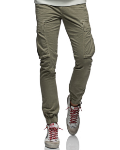 TRUE RELIGION Cargopant Stretch Oliv