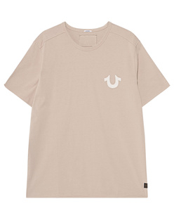 TRUE RELIGION Artwork Organic Cotton Beige