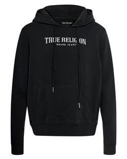 TRUE RELIGION Hood Logo Black
