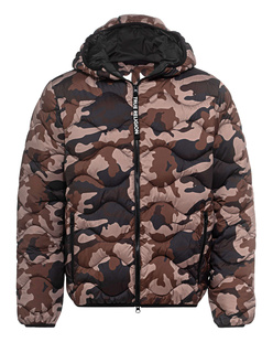 TRUE RELIGION No Down Hoodie Camouflage Brown
