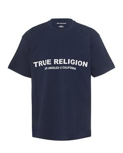 TRUE RELIGION Logo Front Navy
