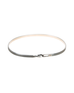 WERKSTATT MÜNCHEN Bangle Hook Lines Silver