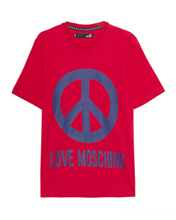 LOVE Moschino Logo Peace Red