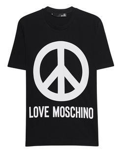 LOVE Moschino Peace Logo Black