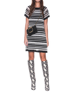 MISSONI Short Dress Black White