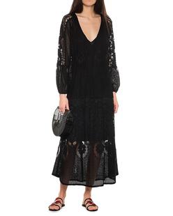 Melissa Odabash Crochet Tassels Black