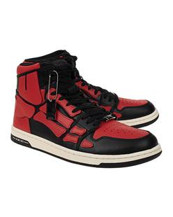 Amiri Skel Top High Black Red