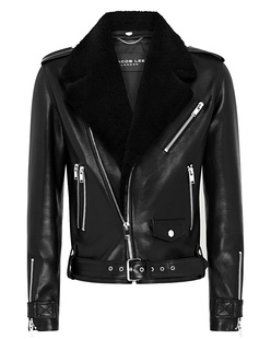 JACOB LEE Leather Biker Black