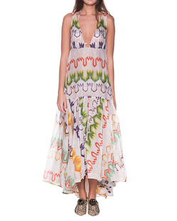 MISSONI MARE Long Cover Up Dress Multicolor