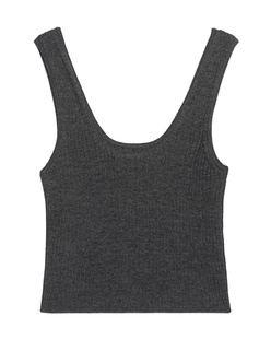 LOULOU STUDIO Montague Cropped Anthracite