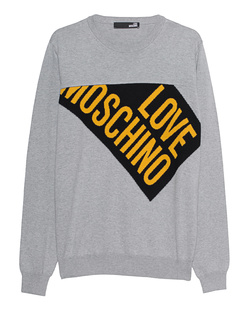 LOVE Moschino Strick Logo Grey