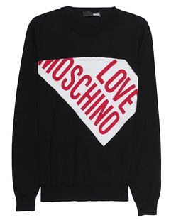 LOVE Moschino Strick Logo Black