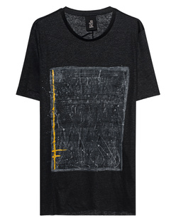 THOM KROM Linen Print Black