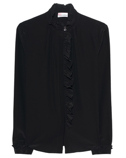RED VALENTINO Long Sleeves Ruffle Nero