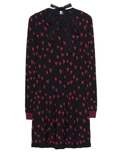 RED VALENTINO Heart Knit Red Black
