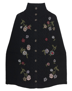 RED VALENTINO Cape Knit Embroidery Black