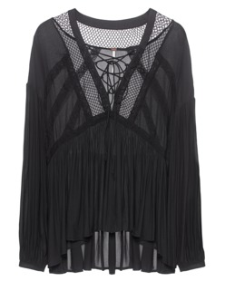 FREE PEOPLE Dont Let Go Peasant Black