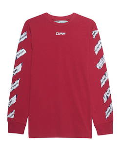 OFF-WHITE C/O VIRGIL ABLOH Airport Tape Longsleeve Red