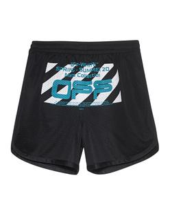 OFF-WHITE C/O VIRGIL ABLOH Wavy Line Logo Mesh Black
