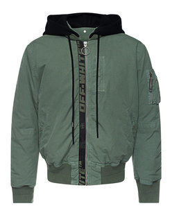 OFF-WHITE C/O VIRGIL ABLOH Bomber Arrow Vintage Hedge Green