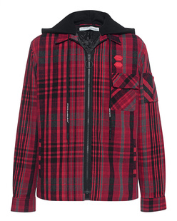 OFF-WHITE C/O VIRGIL ABLOH Flannel Padded Shirt Black Red