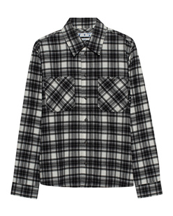 OFF-WHITE C/O VIRGIL ABLOH Allover Check Flannel Black