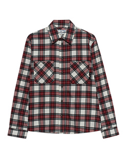 OFF-WHITE C/O VIRGIL ABLOH Allover Check Flannel Red