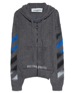 OFF-WHITE C/O VIRGIL ABLOH Zip Diag Brushed Mohair Grey