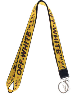 OFF-WHITE C/O VIRGIL ABLOH Industrial Necklace Lettering Yellow