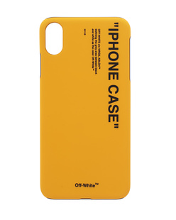 OFF-WHITE C/O VIRGIL ABLOH iPhone Xs Max Quote Yellow