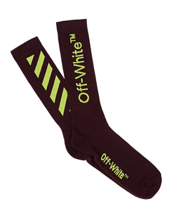 OFF-WHITE C/O VIRGIL ABLOH Diag Socks Bordeaux
