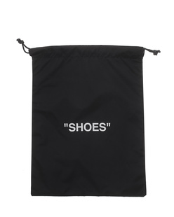 "OFF-WHITE C/O VIRGIL ABLOH  ""SHOES"" Pouch Black"