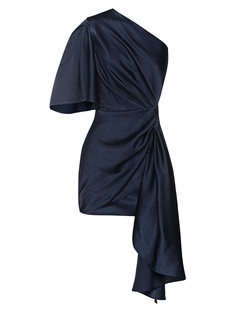 SOLACE LONDON Marcie One Shoulder Navy