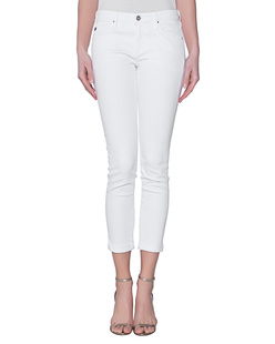 AG Jeans The Stilt Roll-Up Cigarette White