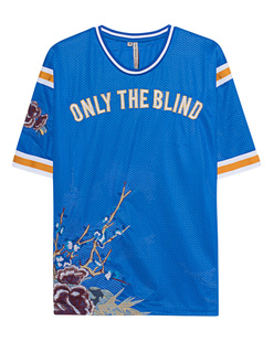 Only the Blind Flower Embroidery Blue