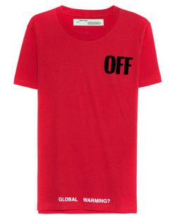 OFF-WHITE C/O VIRGIL ABLOH Big Oversize Tee Red