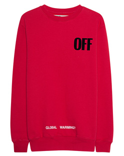 OFF-WHITE C/O VIRGIL ABLOH Big Oversize Sweater Red