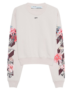 OFF-WHITE C/O VIRGIL ABLOH Sweater Crop Flower Print Beige