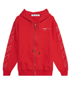 OFF-WHITE C/O VIRGIL ABLOH Puzzle Arrow Zip Red