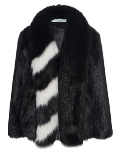 OFF-WHITE C/O VIRGIL ABLOH Fake Fur Stripe White Black