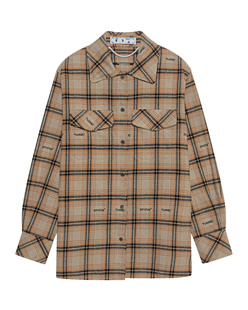 OFF-WHITE C/O VIRGIL ABLOH Check Shirt Flannel Brown