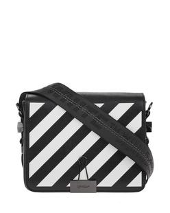 OFF-WHITE C/O VIRGIL ABLOH Diag Flap Bag Black White