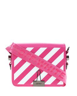 OFF-WHITE C/O VIRGIL ABLOH Diagonal Flap Bag Pink