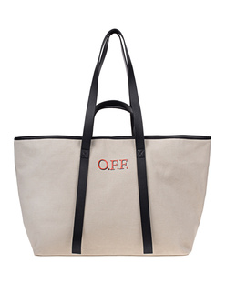 OFF-WHITE C/O VIRGIL ABLOH CANVAS COMMERCIAL TOTE Beige