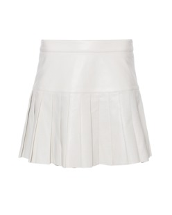 Pam&Gela Pleated Perforated Leather Cream