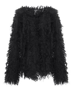 DKNY Fringe Knit Black