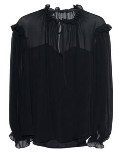Plein Sud Chiffon Ruffle Transparent Black